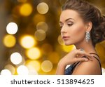 people  holidays  jewelry and... | Shutterstock . vector #513894625