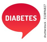 diabetes speech bubble  icon.... | Shutterstock .eps vector #513896827