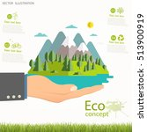 environmentally friendly world. ... | Shutterstock .eps vector #513900919