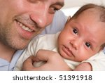 young father holding hands on... | Shutterstock . vector #51391918