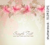 romantic flower background | Shutterstock .eps vector #51392191