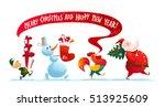 vector christmas illustration... | Shutterstock .eps vector #513925609