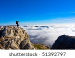 hiking in the crimea mountains | Shutterstock . vector #51392797
