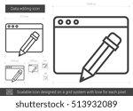 data editing vector line icon... | Shutterstock .eps vector #513932089