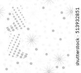 pattern of christmas  motifs ... | Shutterstock . vector #513932851