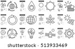 ecology vector line icon set... | Shutterstock .eps vector #513933469