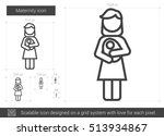 maternity vector line icon... | Shutterstock .eps vector #513934867