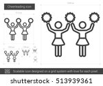 cheerleading vector line icon... | Shutterstock .eps vector #513939361