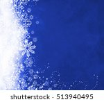 blue christmas background | Shutterstock . vector #513940495