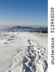 Trodden Path In The Snow With ...
