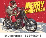 senior biker wear santa claus...
