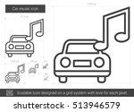 car music vector line icon... | Shutterstock .eps vector #513946579