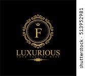 luxury logo template in vector... | Shutterstock .eps vector #513952981