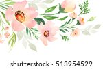 Pink Green Floral Decorative...