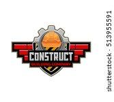 building company logo emblem... | Shutterstock .eps vector #513955591