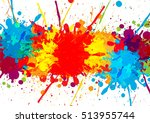 splatter colorful  with paint... | Shutterstock .eps vector #513955744