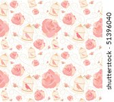 spring vector pattern with rose ... | Shutterstock .eps vector #51396040