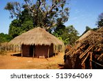 African Straw Hut  In Rain...