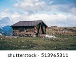 italian alpine hut at aosta... | Shutterstock . vector #513965311