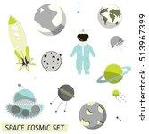vector space pattern.... | Shutterstock .eps vector #513967399