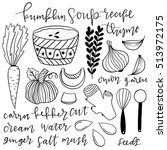 set of hand drawn doodle vector ... | Shutterstock .eps vector #513972175