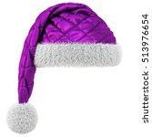 Santa Claus Purple Hat Isolate...