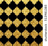 gold moroccan pattern seamless... | Shutterstock .eps vector #513981385