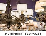 different chandeliers in the... | Shutterstock . vector #513993265