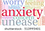 anxiety word cloud on a white...   Shutterstock .eps vector #513995401