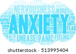 anxiety word cloud on a white...   Shutterstock .eps vector #513995404