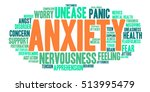 anxiety word cloud on a white...   Shutterstock .eps vector #513995479