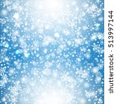 snowflakes blue background.... | Shutterstock .eps vector #513997144