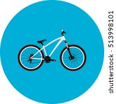 sport white bicycle | Shutterstock .eps vector #513998101