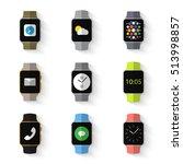 set of simple smart watch flat...   Shutterstock .eps vector #513998857
