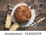 panettone. tradidional italian...   Shutterstock . vector #514002259