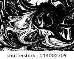 vector black and white marbled... | Shutterstock .eps vector #514002709