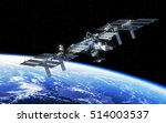 international space station... | Shutterstock . vector #514003537