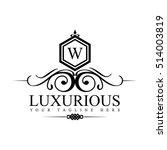 luxury logo template in vector... | Shutterstock .eps vector #514003819