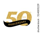 template 50th anniversary ... | Shutterstock . vector #514005229