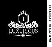luxury logo template in vector... | Shutterstock .eps vector #514005655