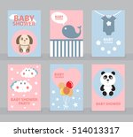 baby shower invitation template ... | Shutterstock .eps vector #514013317