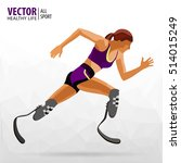 athlete with a disability.... | Shutterstock .eps vector #514015249