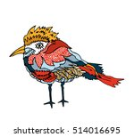 kids stylized bird. abstract... | Shutterstock .eps vector #514016695