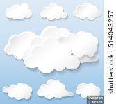 cloud. set. sky. weather. for... | Shutterstock .eps vector #514043257