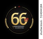 66 years golden anniversary... | Shutterstock .eps vector #514044184