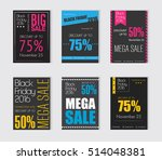 black friday sale set for flyer ... | Shutterstock .eps vector #514048381
