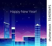 vector illustration. happy new... | Shutterstock .eps vector #514050691