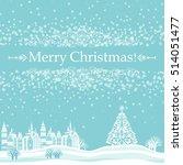 christmas card. celebration...   Shutterstock .eps vector #514051477