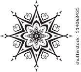 abstract vector black round ... | Shutterstock .eps vector #514063435