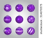Vector Purple Christmas Bauble...